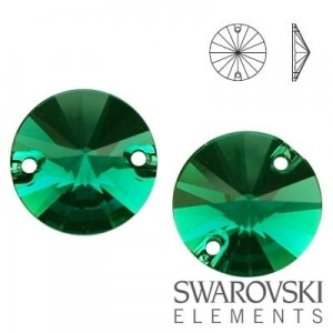 3200 Swarovski Rivoli EMERALD 12 mm