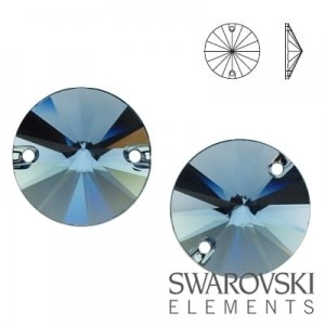 3200 Swarovski Rivoli DENIM BLUE 12 mm