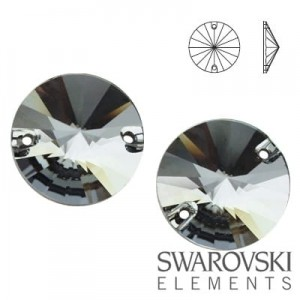 3200 Swarovski Rivoli SILVER NIGHT ( SINI ) 12 mm