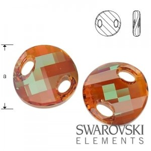 3221 Swarovski Twist Crystal COPPER ( COP ) 18 mm