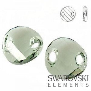 3221 Swarovski Twist BLACK DIAMOND 18 mm