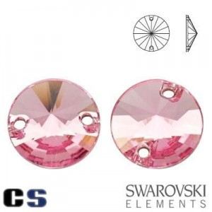3200 Swarovski Rivoli LIGHT ROSE 10 mm
