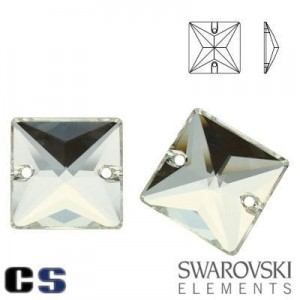 3240 Swarovski Square CRYSTAL 16 mm