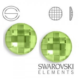 2035 Swarovski Chessboard Circle PERIDOT F 6 mm