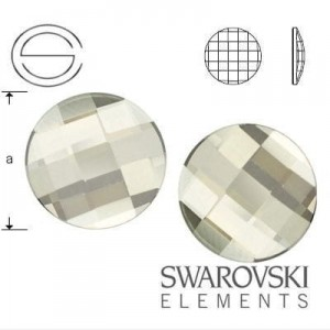 2035 Swarovski Chessboard Circle Crystal SILVER SHADE (SSHA) F 10 mm