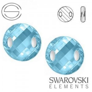 3221 Swarovski Twist AQUAMARINE 18 mm