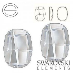 2585 Swarovski Graphic Flat 10,0 mm CRYSTAL F