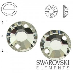 3204 Swarovski XILION Sew-on 8,0 mm CRYSTAL F