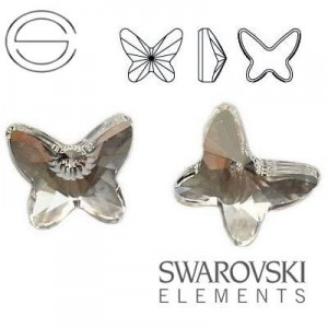 2854 Swarovski Butterfly CRYSTAL F 8 mm